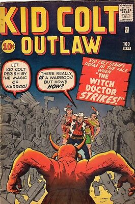 Kid Colt Outlaw 100 Vg+ Jack Kirby's Warroo The Witch Doctor