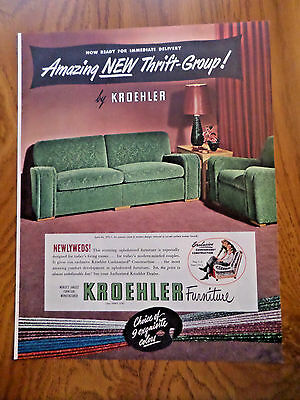 1949 Kroehler Furniture Ad  New Thrift-Group