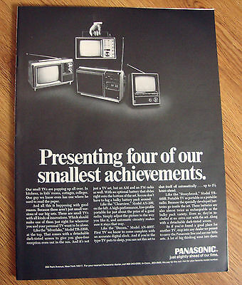 1969 Panasonic TV Television Ad  Four of our Smallest Achievements