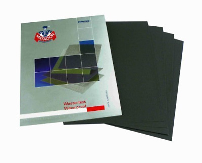 Starcke Matador Lot de 6 feuilles de papier de verre imperméable Wet and Dry Gra