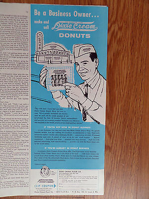 1960 Dixie Cream Donuts Ad Business Owner 1960 Quaker State Oil Ad Groendyk