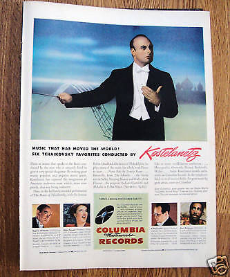 1946 Columbia Records Ad Kostelanetz Conducting