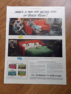 1948 Simmons Makes Hide A Bed Ad