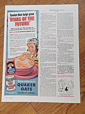 1951 Quaker Oats Cereal Ad Helps Grow Stars of the Future