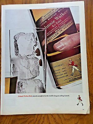 1965 Johnnie Walker Red Whiskey Ad  World's Largest-selling Scotch