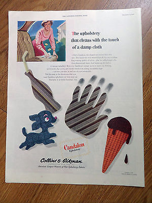 1950 Collins Aikman Candalon Upholstery Ad  Automobile