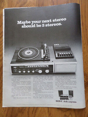 1972 Sony HP-149A Stereo Tuner/Amplifier System Ad