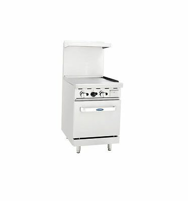 "New Heavy 24"" Range 24"" Griddle 1 Space Saver Oven Stove  Lp Propane Gas Only"