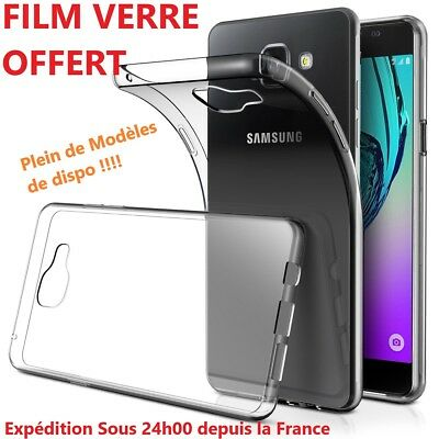 Coque Housse Etui Silicone Tpu Gel Pour Samsung Galaxy + Film Vitre Verre Offert