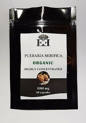 Authentic Organic 100% Pueraria Mirifica 60 x5000mg Breast Enlargement capsules