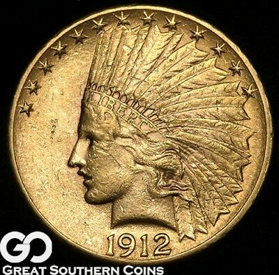 1912 Eagle, $10 Gold Indian, Brilliant Uncirculated ** Free Shipping!