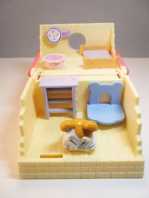 Hamtaro Ham Ham Play House Bed Room Hamster Figure Chair Epoch Toy  Cottage Acc