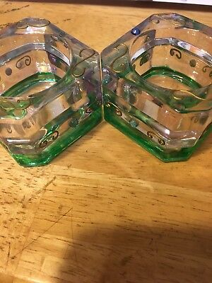 Partylite Glass Candle Holders