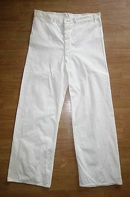 Mens Vintage 30s Cotton Twill Pants Workwear Casual Slacks Rare Tall Size