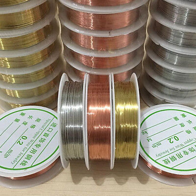 Lot 3 Colors 1 Roll Soft Copper Wire/Wire Line Fr DIY Jewelry Making 0.2-1mm New