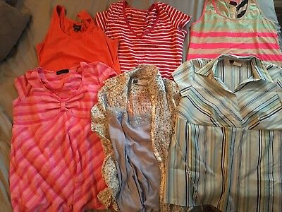 Lot Maternity Large Clothes (1 NWT) Oh Baby, two hearts