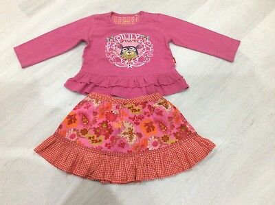 Girls Designer Oilily Outfit Skirt And Top Age 24 Months Vgc