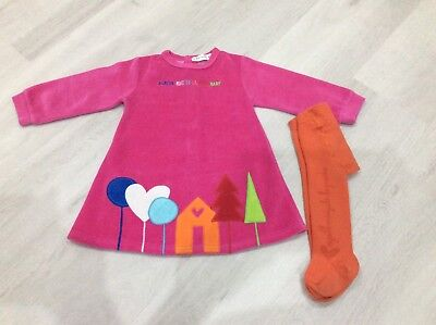 Girls Designer Prada Dress And Tights Age 18 Months Vgc