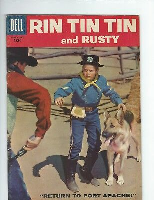 DELL - RIN TIN TIN and RUSTY #25 (F 6.0) PHOTO COVER