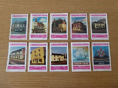 10 Swiss Made Matchbox Labels From Bouldens Whitbread Wessex Set