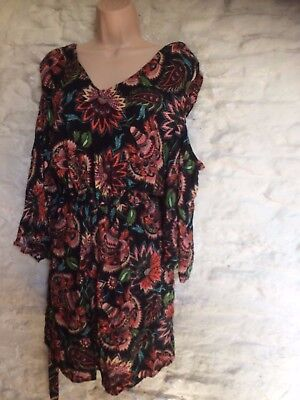 print cold shoulder playsuit size 20
