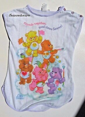 Vintage Care Bear 1986 Nightgown Size 4 Friends together..