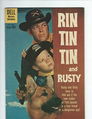 DELL - RIN TIN TIN and RUSTY #34 (F 6.0) PHOTO COVER