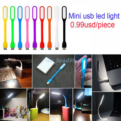 Mini USB LED Light Lamp For Computer Notebook Reading PC Flexible Bright Laptop