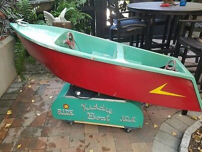 1950's Kiddie coin operated boat ride