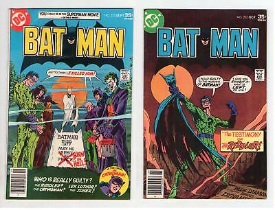 Batman #291 #292 Rogues Gallery Cover 1977 DC Low Grade due to Water Damage