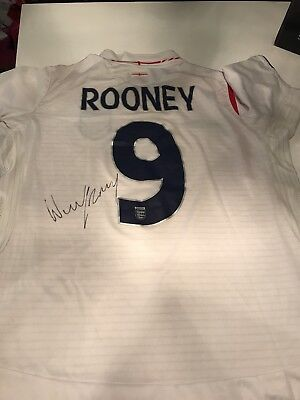 Signed England top by Wayne Rooney