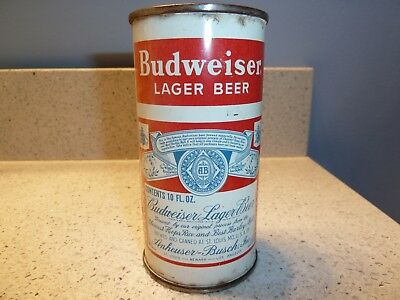 Budweiser Split Label 10 oz flat top (USBC 44-12)  very rare can - hard to find