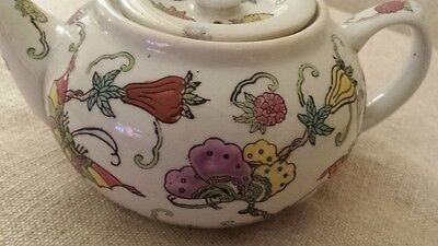 Nice  Chinese  Famille Rose Porcelain Tea Pot Over 100 Years Old