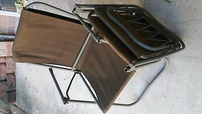 Two (2) Australian army/ military folding chairs, DD marked