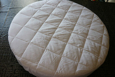 Round Bassinet Protector--NEW--COTTON QUILTED TOP  - suit 73 cm.