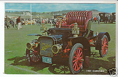 1907 CADILLAC Vintage Car Picture Photo POSTCARD