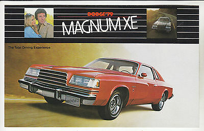 1979 DODGE MAGNUM XE & GT Total Driving Experience Ad Card POSTCARD Unused New