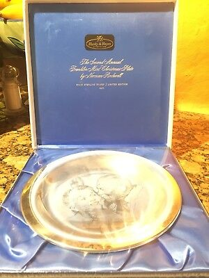 1971 FRANKLIN MINT 925 Sterling CHRISTMAS PLATE Rockwell-Limited New Sealed