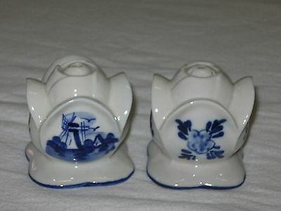 Dutch Blue Tulip Salt And Pepper Shaker Set Holland House Delft Blue Delftware