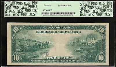 Large 1914 $10 Dollar Bill Richmond Fed Note Currency Big Paper Money F 923 Pcgs