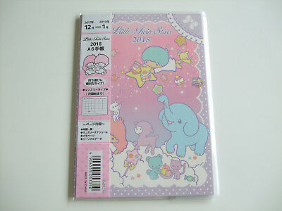 New!! Sanrio Little Twin Stars Kawaii 2018 Schedule Book Calendar/A6 size