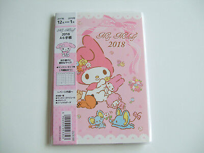 New!! Sanrio My Melody Kawaii 2018 Schedule Book Calendar/A6 size