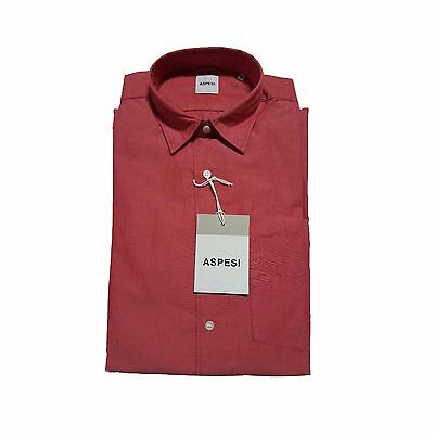 ASPESI men's shirts mod RIDOTTA II red 100% cotton