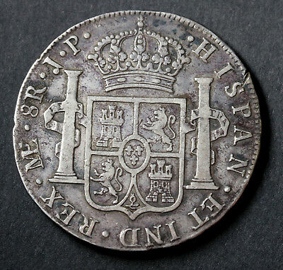 1815 JP Mexico SPANISH COLONY 8 Reales KM# 111 Silver Coin Ferdinand VII