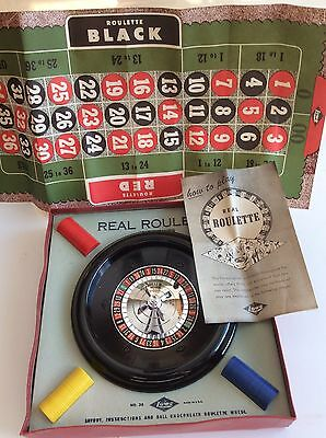 Vintage REAL ROULETTE Game By LOWE MIB