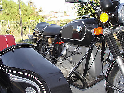 1973 BMW R-Series  No Reserve Auction Steib LS200 Sidecar 1973 BMW R75/5 Motorcycle, Lots New Parts