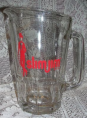 Vintage Slim Jim Brand Advertising Beer Pitcher Man Cave Barware Tool Decor