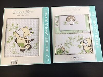 Bubba Blue Cot Set Brand New. Sheets and Blanket