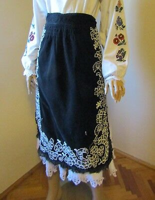 Vintage hand beaded Romanian aprons from Banat / Transylvania  beads  spangles
