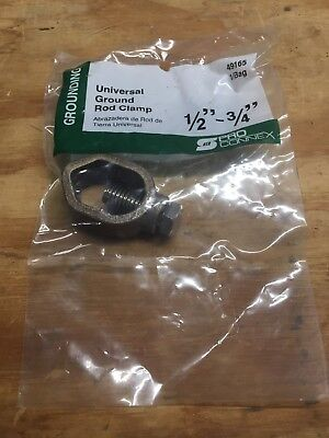 """Universal Ground Rod Clamp By Pro Connex 1/2""""-3/4"""" #10-1/0 Acorn Direct Burial"""